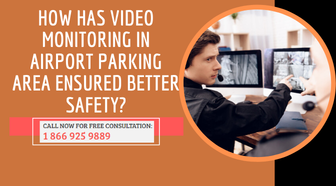 video monitoring in airport parking area